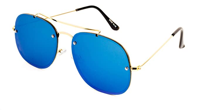 50bd40fe008 THEWHOOP UV Protected Blue Mercury Rectangular Aviator Men and Women  Sunglasses
