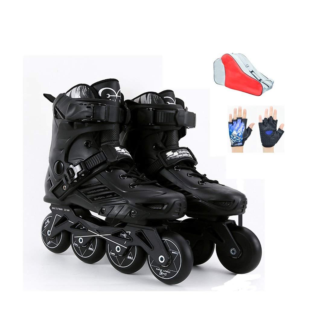 YANGXIAOYU Rollschuhe, Rollschuhe Für Mädchen Anzüge Konsolenstärke 3mm Schwarz Weiß Weiß Weiß Geeignet Für Erwachsene Jugendliche B07QPF7RJM Rollschuhe Erste Qualität e31b0e