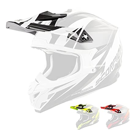 f8f6e6f4 Image Unavailable. Image not available for. Color: Scorpion Peak Visor Vx-35  Motorcycle Helmet Accessories - Krush Yellow/One Size