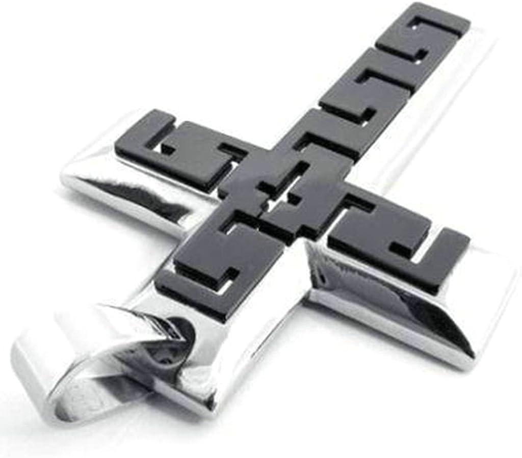 Daesar Stainless Steel Necklaces Men Women Necklace Vintage Retro Cross Pendant Black Silver 7041MM
