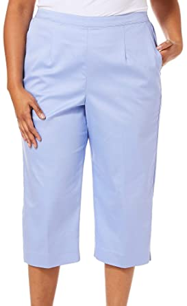 356637612aa Alfred Dunner Plus Turtle Cove Classic Fit Capris at Amazon Women s  Clothing store