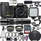 Cheap Nikon D7500 20.9 MP DSLR Camera Video Kit with AF-S 18-140mm VR Lens, AF-P 70-300mm ED VR Lens & 500mm Lens + LED Light + 32GB Memory + Filters + Macros + Deluxe Bag + Professional Accessories