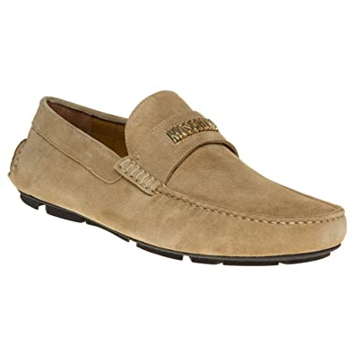 Moschino Logo Driving Homme Chaussures Naturel  Amazon.fr  Chaussures et  Sacs 199b83792df0