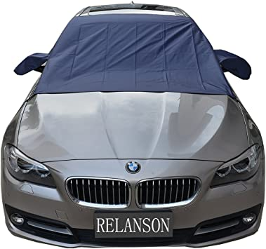 84.6x49.2 Ice Frost Build Up Design Protects Windshield Wipers from Snow Lefon Windshield Snow Cover Magnetic Car Snow Cover Mirror Covers Automobiles