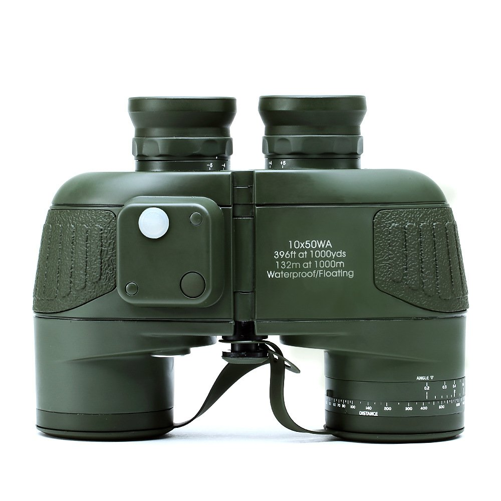 USCAMEL 10x50 HD Military Waterproof Binoculars with Rangefinder Compass by USCAMEL