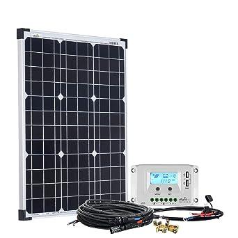 Offgridtec Solaranlage Basicpremium S 50w Mit 10a Lcd Laderegler