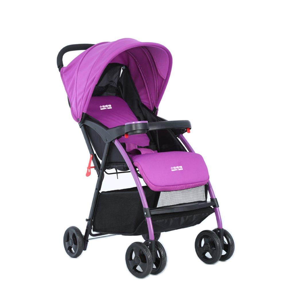 海外並行輸入正規品 乳母車 B07HQ9M3ZD ベビーベビーカーは赤ちゃんのベビーカーの赤ちゃん車の傘を横たえることができます 使いやすい (色 : : Purple) Purple (色 B07HQ9M3ZD, コザカイチョウ:3d0fa8b4 --- hotel.officeporto.com