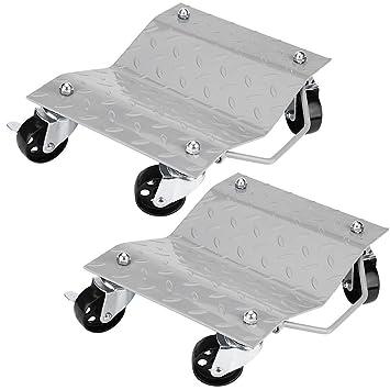 GOTOTOP Set de 2 Patines de Neumáticos Rodamientos de Bolas Camilla Plataforma para Reparación de Coche hasta 1500 LB / 680 kg: Amazon.es: Coche y moto