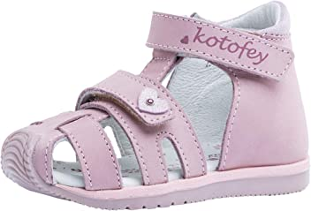 1fcf7ff5d09c1 Kotofey Girls Pink Sandal 122116-21 Genuine Leather Orthopedic Sandals with  Arch Support
