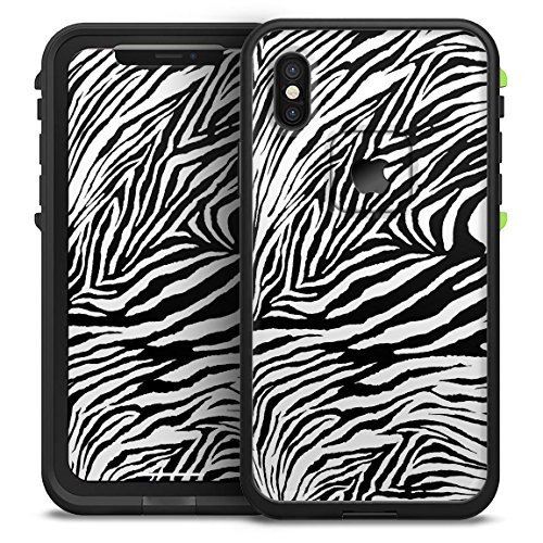 (Toned Zebra Print Design Skinz Decal Skin Wrap Kit for The LifeProof FRĒ Waterproof Case - iPhone 8 Plus or 7 Plus)