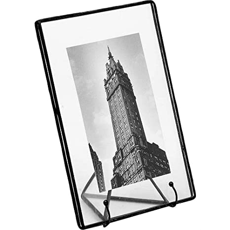 Amazon.com: Clear Glass Float Frame 5.50x7/4x6 BLACK by Bedford ...