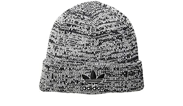 check out 14967 f4776 Adidas Men s Originals Trefoil II Knit Beanie (One Size, Black White Marl  Black) at Amazon Men s Clothing store