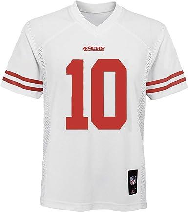 Amazon Com Jimmy Garoppolo San Francisco 49ers 10 White Youth Away Mid Tier Jersey Clothing
