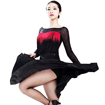 Amazon Lace Tassels Latin Dance Dresses Sports Outdoors