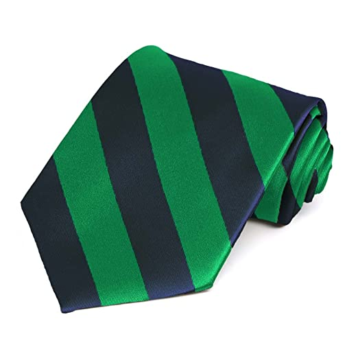 11fb79d71e55e1 Image Unavailable. Image not available for. Color: Kelly Green and Navy  Blue Striped Tie