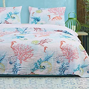 61HUplnrwgL._SS300_ Coastal Bedding Sets & Beach Bedding Sets