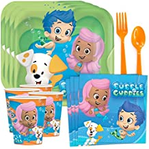 Bubble Guppies Birthday Party Supplies Tableware Kit Serves 8