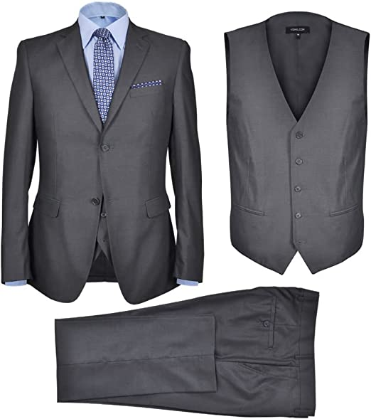 tidyard - Disfraz para Hombre (3 Piezas), Color Negro, Gris Oscuro ...