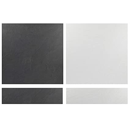 Beldray COMBO-3904 Reversible Laminate Fireplace Hearth Insert and Back  Panel, Granite and Stone