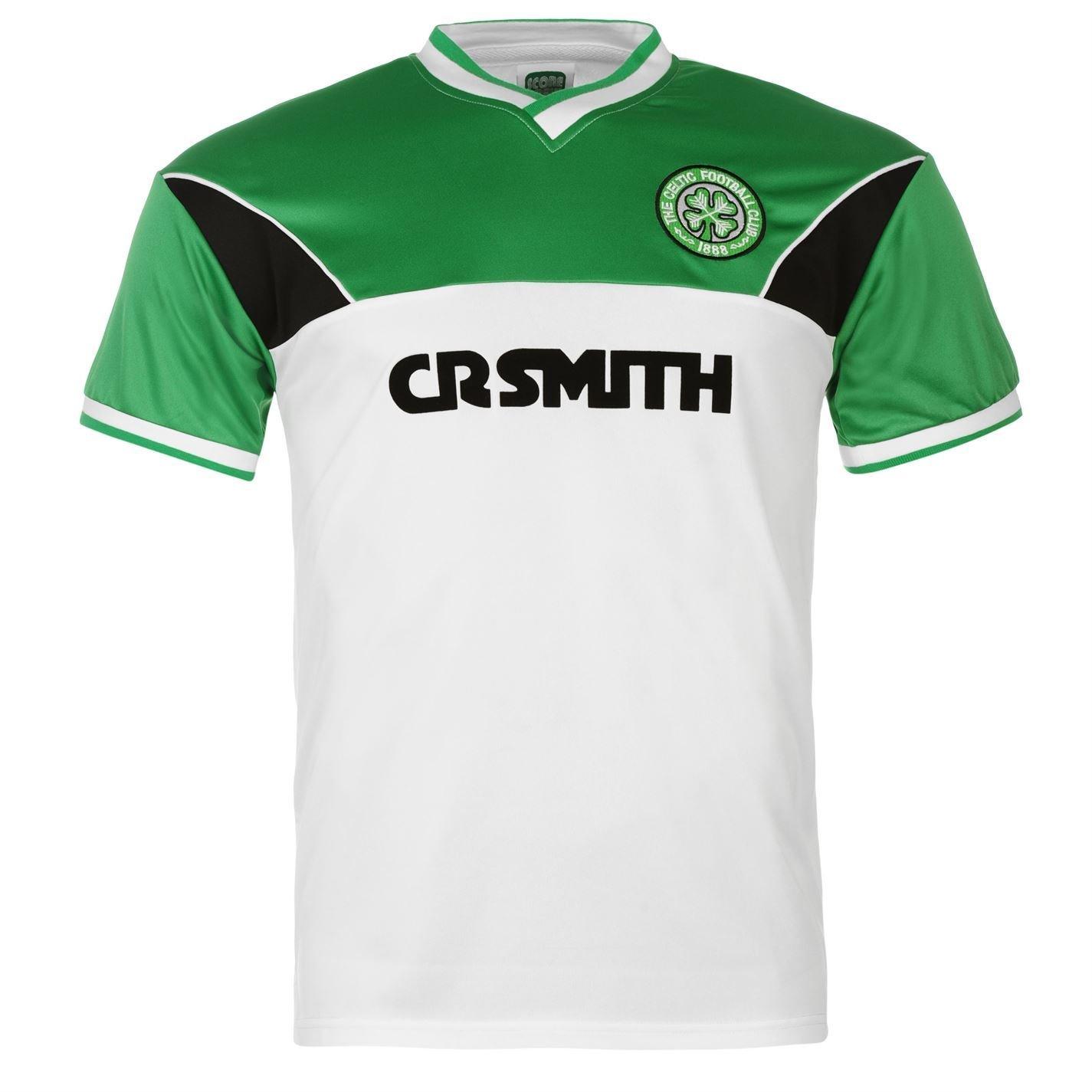 half off 54545 271fa Celtic FC 1985 Away Jersey Score Draw Mens White/Green Retro ...