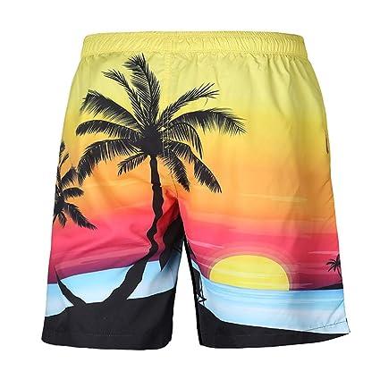 Gusspower Bañador/Pantalones Cortos para Hombre de Playa Hawaianos, Piscina y Parque Acuático,