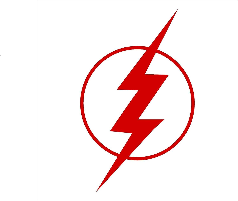 "Flash Bolt Comic Superhero Car Window Vinyl Decal Sticker Red, 4/"" inches"