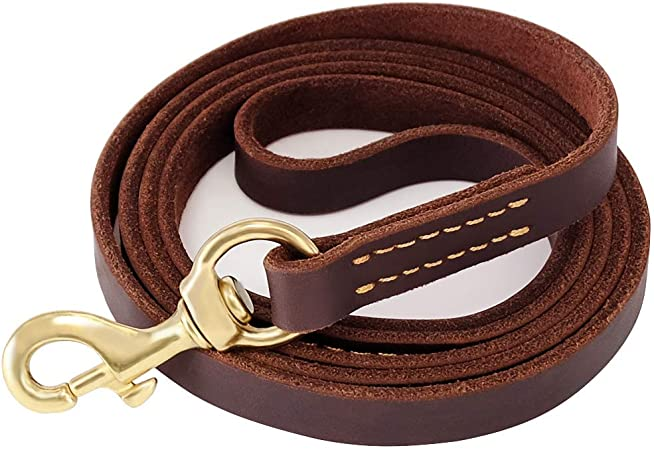 4 Foot Leather Leash Black Leash Brown Leash Leather Leash Leather Collar Leather Collar and Leash Set 4 Foot Black Leash Leather Set