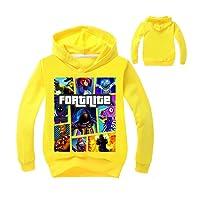 Fortnite Primavera y Otoño Ropa de Niños Sudaderas con Capucha Chico Moda Impresion Tops Suéter Jerseys Hoodie Casual Manga Larga Pulóver Sweatshirt Blusa Jumpers