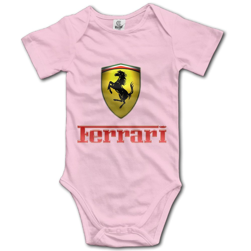 Amazon Com Ieefta Ferrari Logo Baby Climbing Clothes Bodysuit 5398441040347 Books