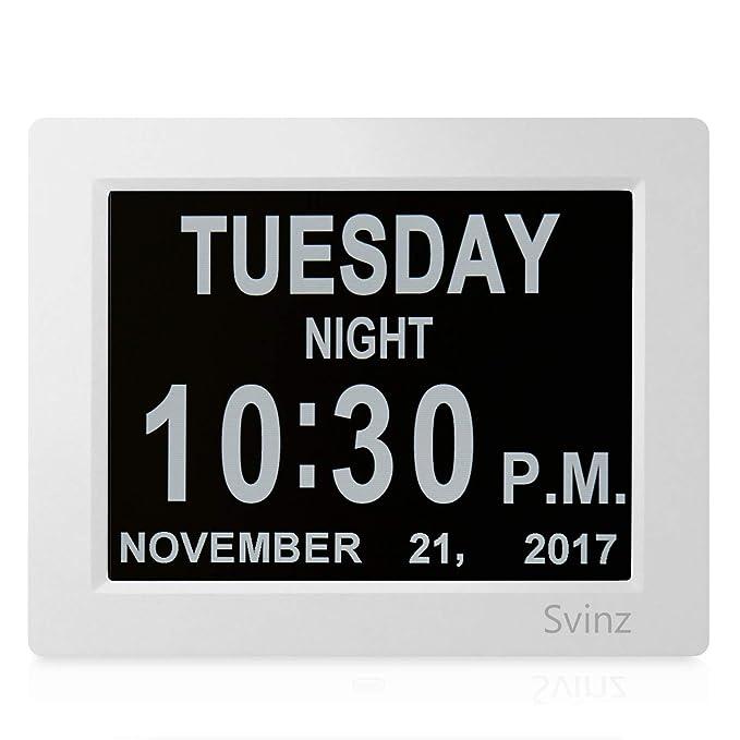 Amazon.com: Svinz. Reloj despertador digital con calendario ...