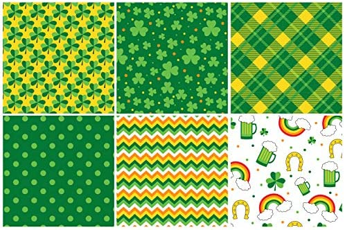 WRAPAHOLIC Wrapping Paper Sheet - Lucky Shamrock and Beer Design, Perfect for St.Patrick's Day, Holiday, Party - 1 Roll Contains 6 Sheets - 17.5 inch X 30 inch Per Sheet