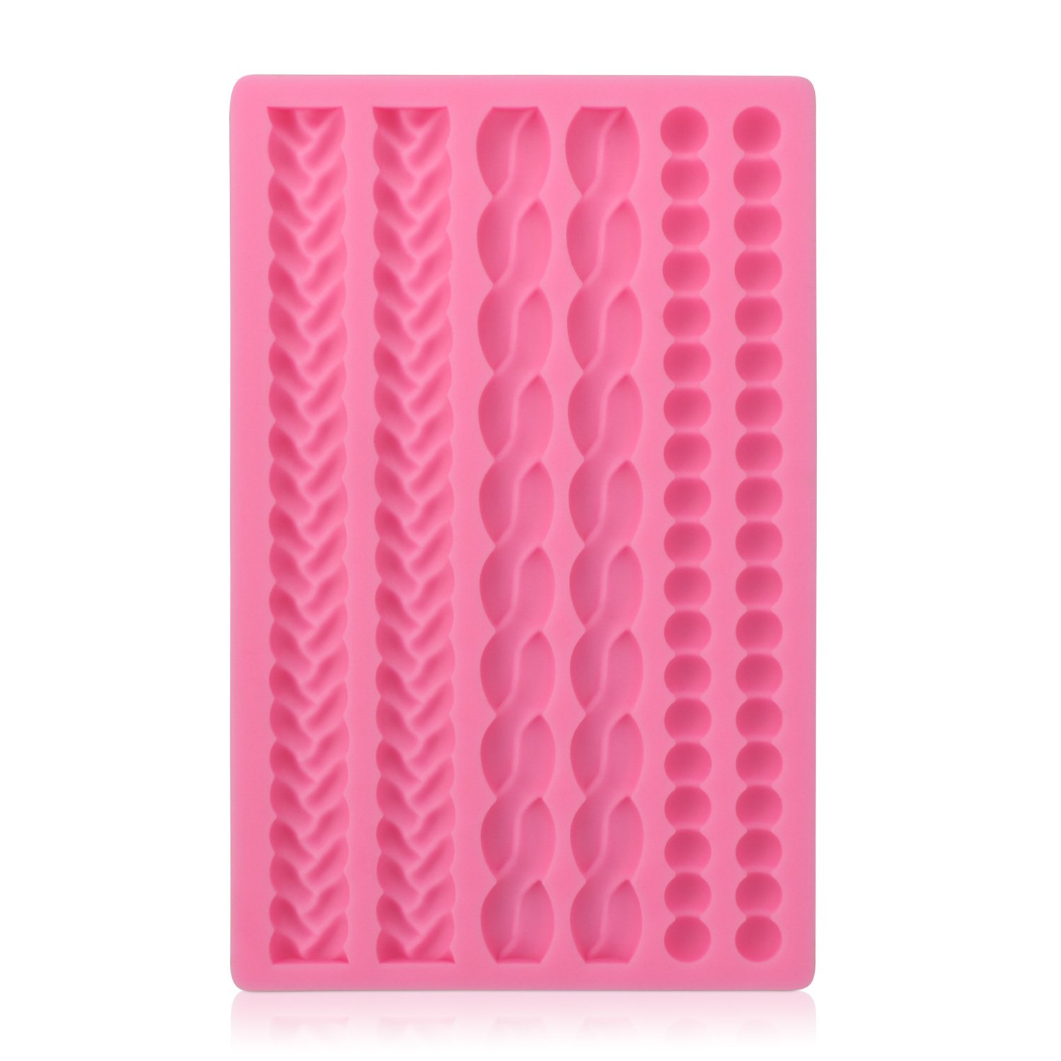 Rope String Molds, Beasea 3D Silicone Cake Decoration Molds Chocolate Fondant Cupcake Decorating Mold Sugarcraft Baking Mould Cookie Pastry Pies Cake Toppers