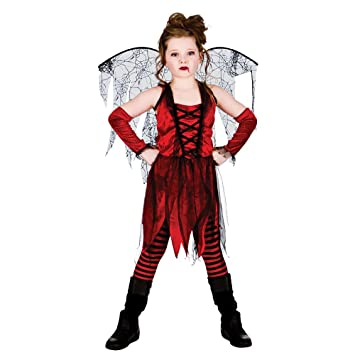 l girls vampire fairy halloween costume for fancy dress childrens kids childs large age