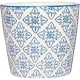 Ib Laursen Casablanca Becher Blumenmuster blau