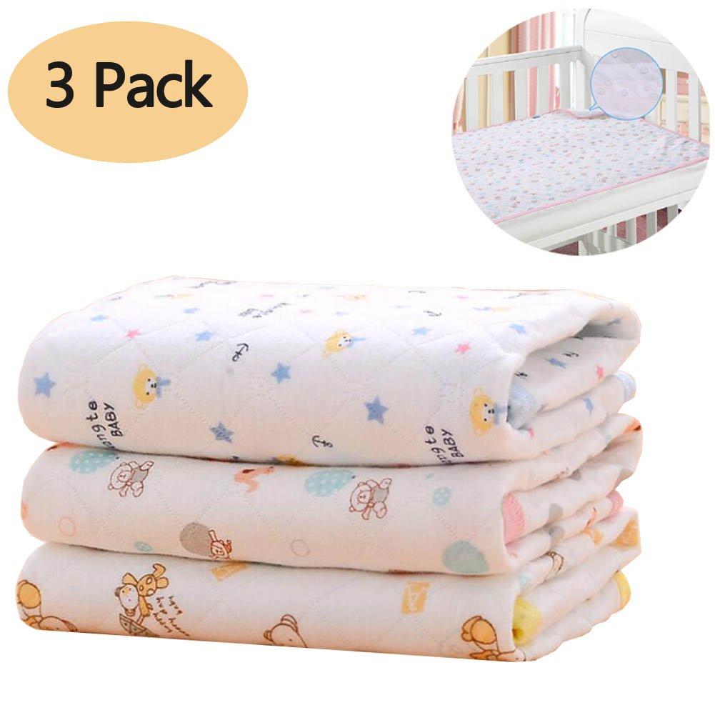 Diaper Changing Mat, Baby Kid Mattress Waterproof Changing Pad Diapering Sheet Protector Pads 3 PCS (M(27.5X19.7 in)) Amcho