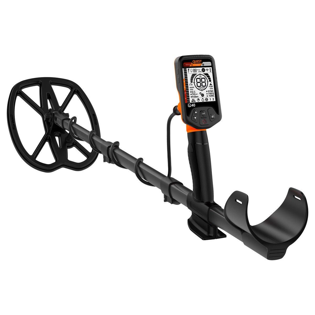 Quest Q40 Detector de Metales con Bobina de búsqueda Impermeable y 11 x 9 turbod: Amazon.es: Jardín