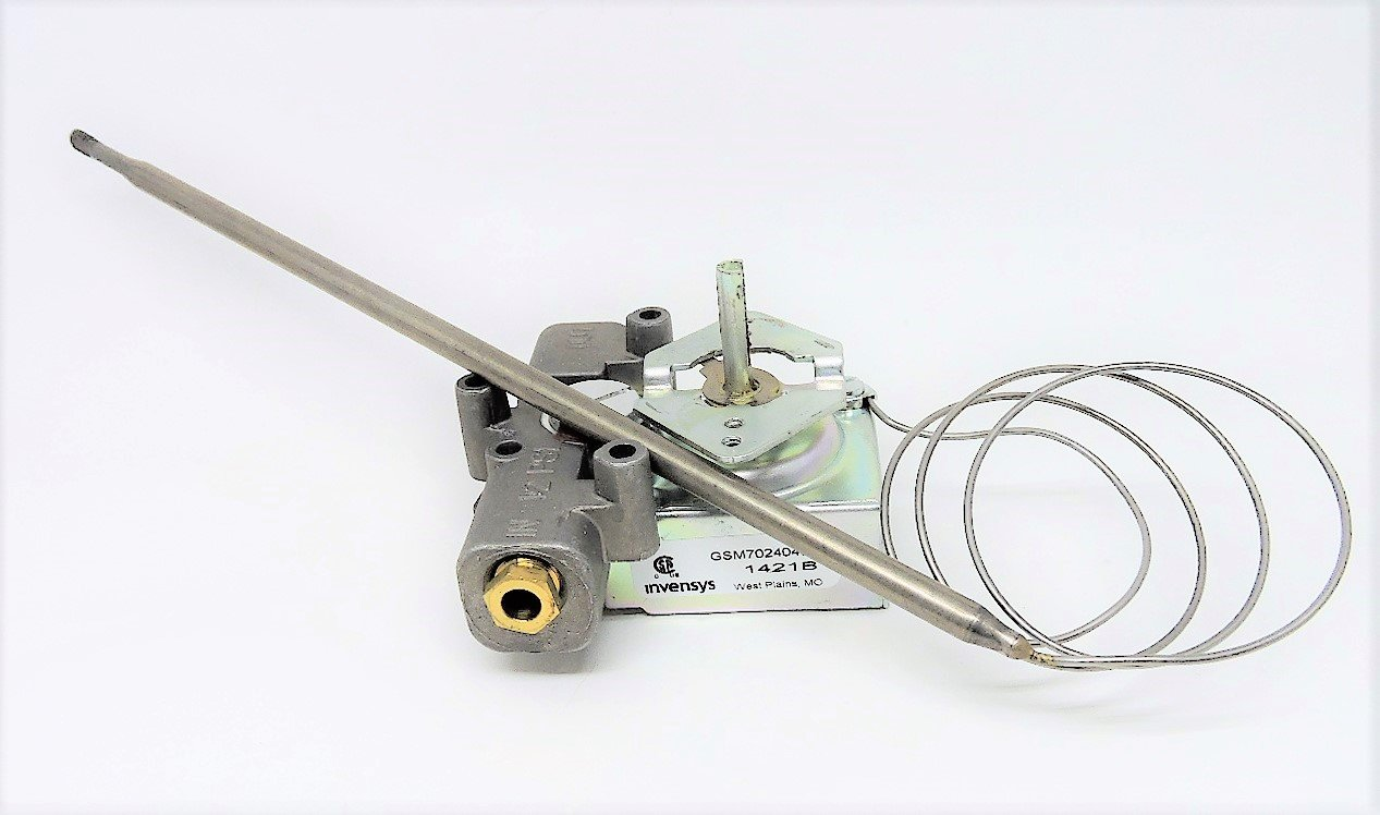 "Anets P8903-37 Thermostat w/ Probe 200-400 Degrees For Fryer (For MX4E Fryer) - Bulb: 1/4"" x 9"", Cap: 24"""