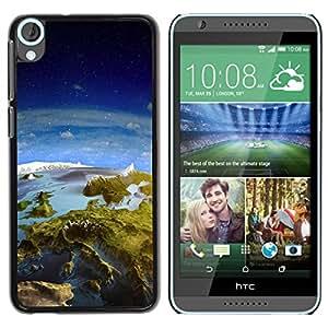 Paccase / SLIM PC / Aliminium Casa Carcasa Funda Case Cover para - Space Planet Galaxy Stars 31 - HTC Desire 820