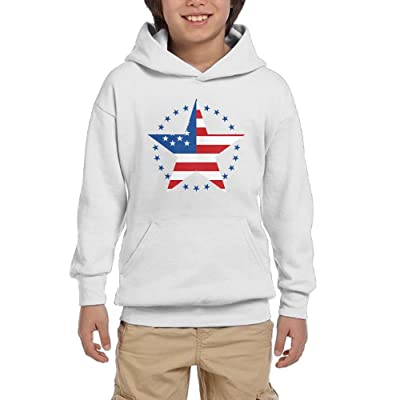 American Flag Youth Pullover Hoodie Casual Pocket Sweatsuit