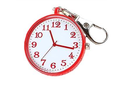 GOOTUOUOU Llavero Enfermera Reloj Colgante Reloj de Bolsillo ...