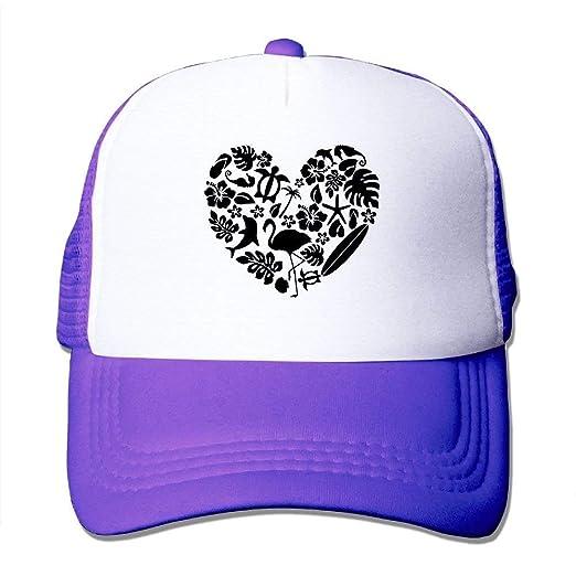 luckwelw Tropical Heart Men s Women s Adjustable Snapback Hats Dad ... e25f81c47
