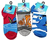 Disney Pixar's Finding Dory Little Kid's Sock Collection (Sock Size 4-6, 3 Pairs)