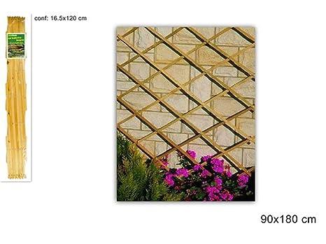 Decorazioni In Legno Per Giardino : Vetrineinrete traliccio estensibile in legno per piante