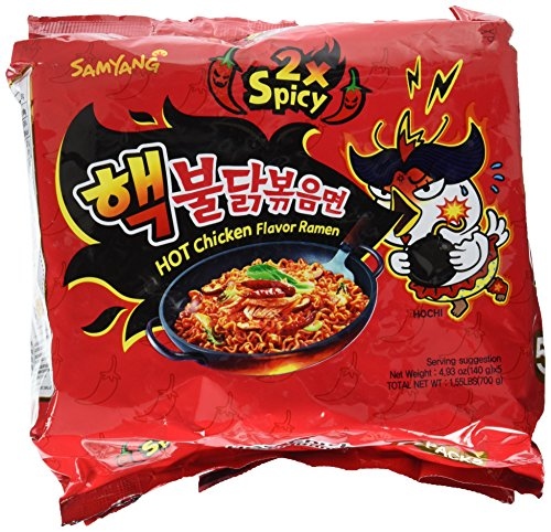 Samyang 2X Spicy Hot Chicken Flavor Ramen, 1.55 Pound