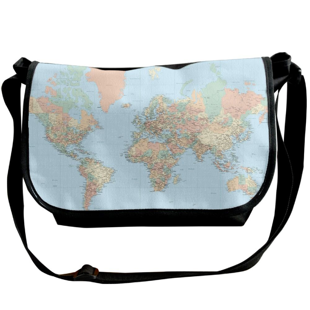 Amazon.com: Uni Wide Diagonal Shoulder Bag World Map Blue ... on map shoes, map luggage, map boots, map crossbody, map skirt, map phone case, map jacket, map scarf, map white, map trunk, map suitcase, map wallet, map sweater,