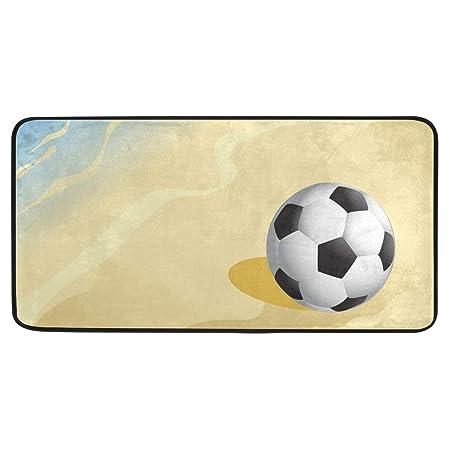 SENNSEE - Alfombra de Playa de Arena con balón de fútbol, para ...
