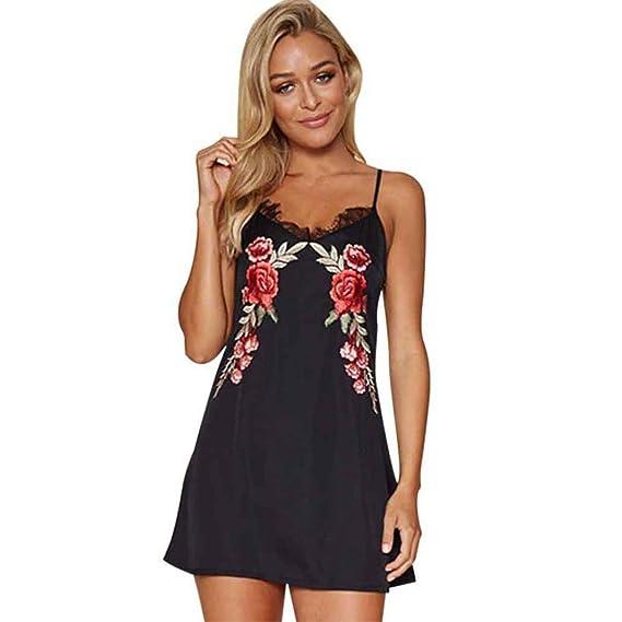 1d0d0c16a vestidos de fiesta cortos Switchali moda vestidos verano mujer floral Sin  mangas Mini vestido de novia