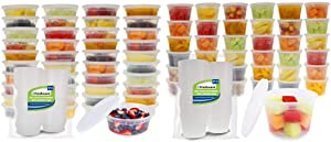 Freshware Food Storage Containers [50 Pack] & Deli, Food Storage containers, 16 ounce, 16 oz. 50-Pack