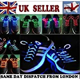 Water & Wood GNG Blue Glow in the Dark Sports LED Shoelaces Dance Party Supply