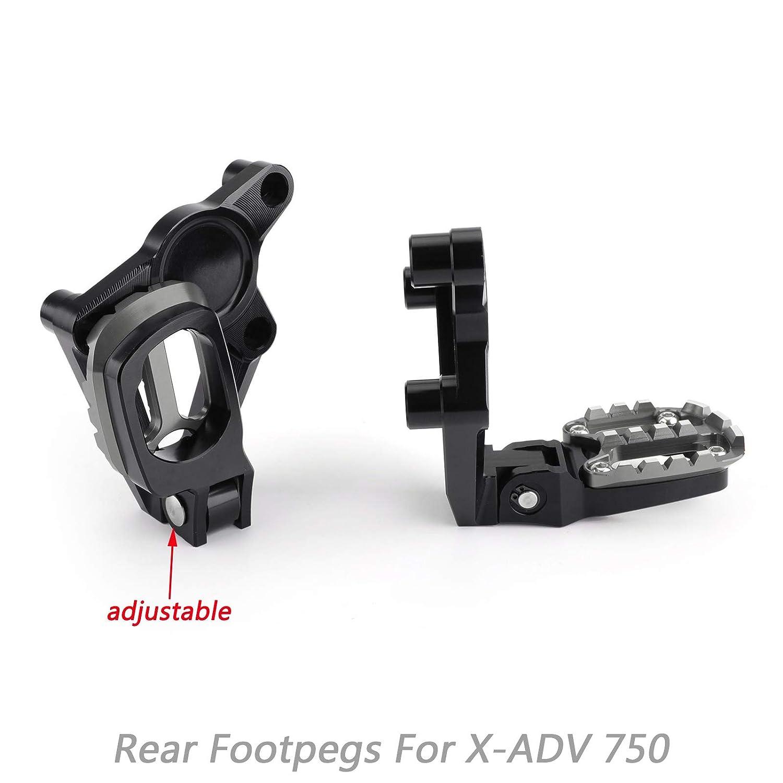 Areyourshop poggiapiedi pieghevoli pedali posteriori per X ADV X-ADV 750 17-18